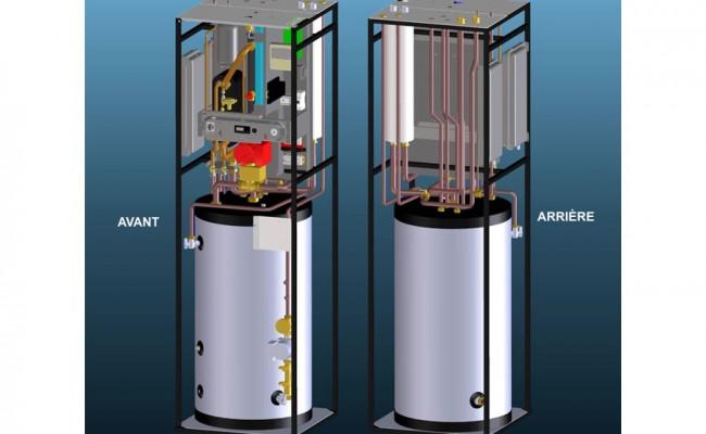 Bomba de calor aire agua split Eolia eHP+ 3inOne